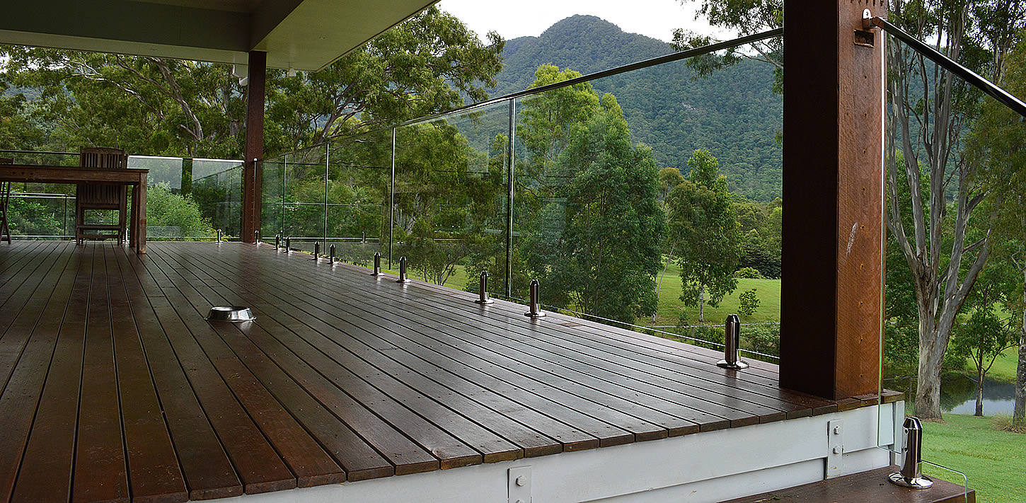 Frameless Glass Balustrade Timber Stairs Brisbane